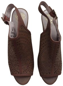 Vince Camuto Brown Mules