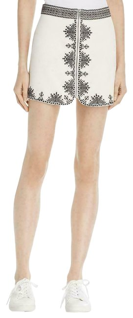 Item - Cream New Genovefa Embroidered Zipper Skirt Size 6 (S, 28)