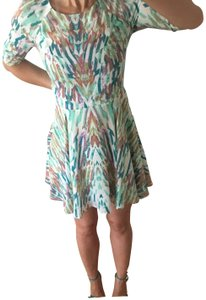 addison short dress blue green, multi on Tradesy