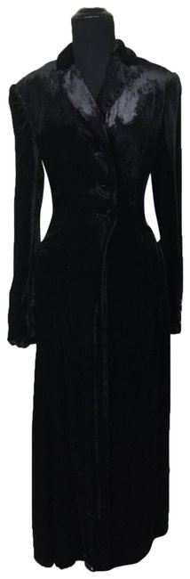 Gianfranco Ferre Black XS Vintage Silk Blend Velvet Fit and Flare Dress Opera Xxs/Xs Coat Size 2 (XS) Gianfranco Ferre Black XS Vintage Silk Blend Velvet Fit and Flare Dress Opera Xxs/Xs Coat Size 2 (XS) Image 1