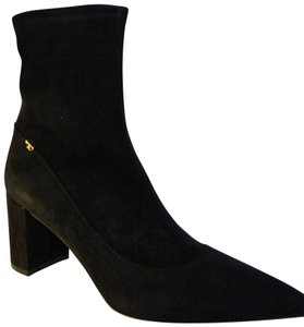 Tory Burch Blackstretchsuede Size10.5m Black Boots
