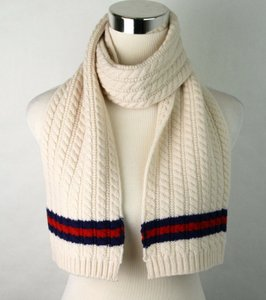 Gucci Ivory Children's Wool Scarf with Brb Web 473636 9268 Groomsman Gift