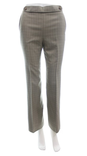 Item - Taupe Vintage Silk & Wool Blend Checkered Pants Size 2 (XS, 26)