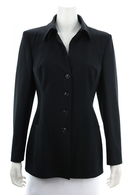 Item - Black Wool Blend Blazer & Pant Suit Size 8 (M)