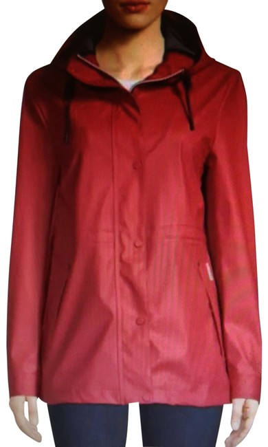 Item - Military Red Rubberized Jacket Coat Size 14 (L)