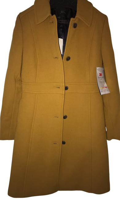 Item - Yellow Double Booth Wool Lady Day Coat Size 4 (S)