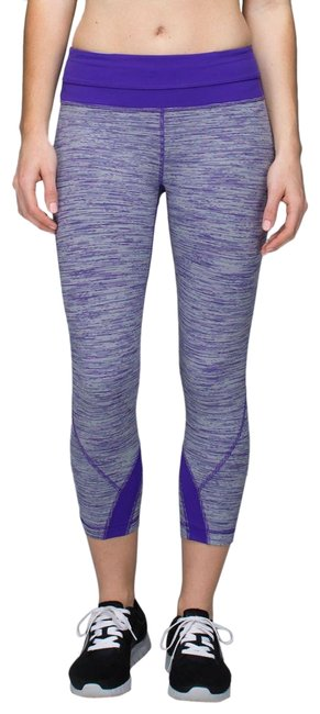 Item - Purple and White Run: Inspire Crop Wee Are From Space Bruised Berry Luxtreme Activewear Bottoms Size 6 (S)