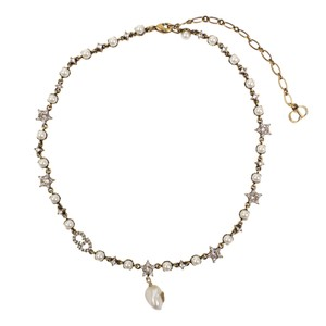 Dior Pearl Bee & Star Choker Necklace