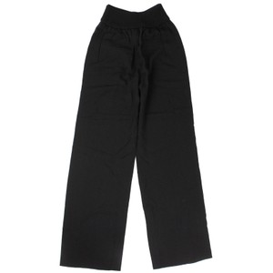 Valentino Viscose Classic Winter Flare Pants Black