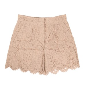 Valentino Cotton Floral Embroidered Lace Viscose Mini/Short Shorts Pink