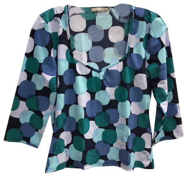Item - Multicolor Made In Italy Stretch Polyamide 44 Blouse Size 8 (M)