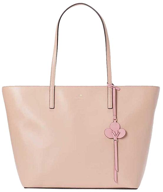 Item - Kelsey Rosy Cheeks Pink Leather Tote