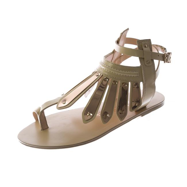 Item - Natural Woven Leather Soleil Thong Sandals Size US 10 Regular (M, B)
