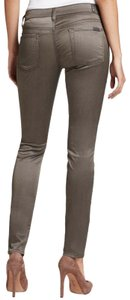 7 For All Mankind Stretch Sateen Satin Skinny Jeans