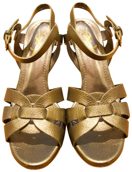 Item - Silver Tribute Yves Leather Sandals Size EU 37 (Approx. US 7) Regular (M, B)