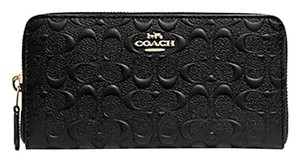 Coach COACH F67566 SIGNATURE LEATHER ACCORDION ZIP WALLET