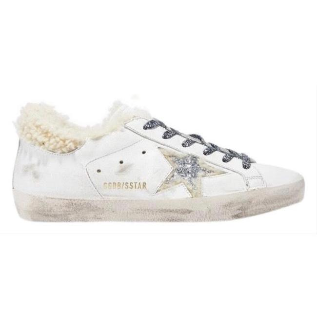 Item - Super Star Shearling Fur Lined Distressed Leather Sneakers Size EU 39 (Approx. US 9) Regular (M, B)