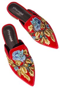 Jeffrey Campbell Red and Blue Mules