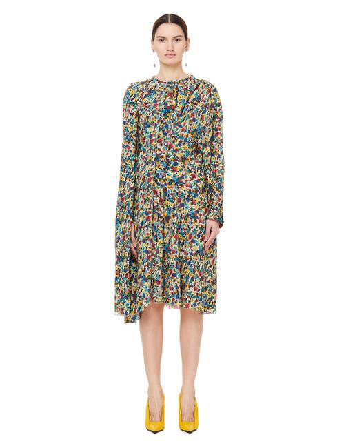 Item - Multicolor Silk Flower Printed Pulled 38 Long Short Casual Dress Size 4 (S)
