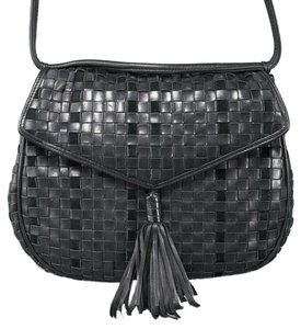 Bottega Veneta Vintage Leather Woven Shoulder Bag