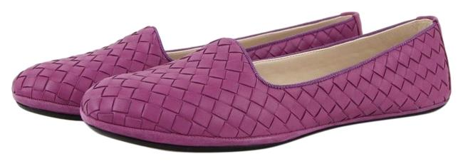 Item - Blue Royal Women Intrecciato Nappa Leather 407066 4315 Flats Size EU 38.5 (Approx. US 8.5) Regular (M, B)