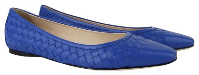 Item - Blue Royal Women Intrecciato Nappa Leather 407066 4315 Flats Size EU 39 (Approx. US 9) Regular (M, B)