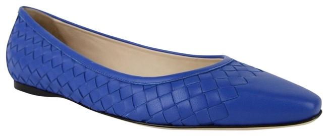 Item - Blue Royal Women Intrecciato Nappa Leather 407066 4315 Flats Size EU 39.5 (Approx. US 9.5) Regular (M, B)