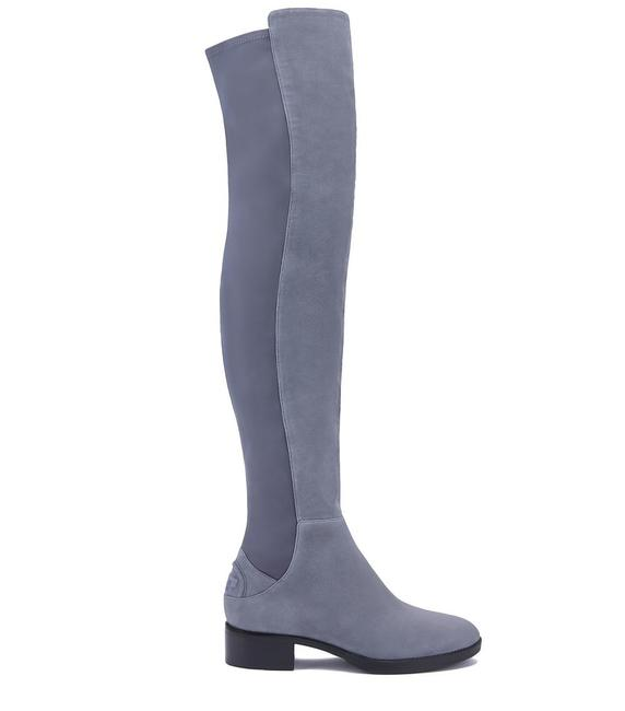 Item - Gray 'caitlin' Over The Knee Suede Embossed Logo B14 Boots/Booties Size US 5 Regular (M, B)