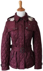 Burberry Brit Belted Hooded Quilted Finsbridge British Raincoat