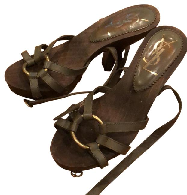 Item - Olive Sandals Size EU 37 (Approx. US 7) Regular (M, B)