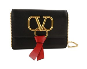 Valentino Calfskin Leather Gold Hardware Cross Body Bag