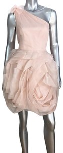 White by Vera Wang Formal One Shoulder Party Dress