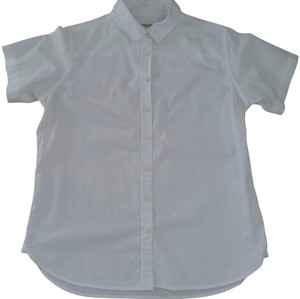 Tradlands Short Sleeve Ethically Made Cotton Button Down Shirt white