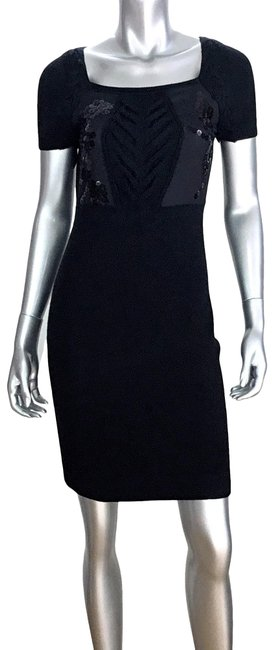 Item - Black Knit Sequin Short Night Out Dress Size 2 (XS)