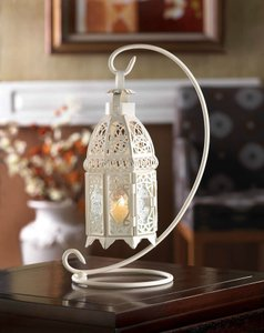 12- Gorgeous Victorian Style Cutout Candle Lantern W/stand