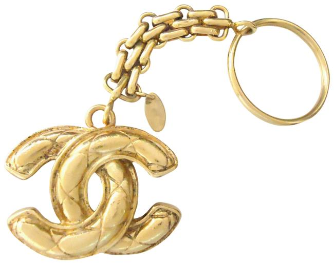 Item - Gold Plated Vintage Double Sided Key Holder & Bag Charm