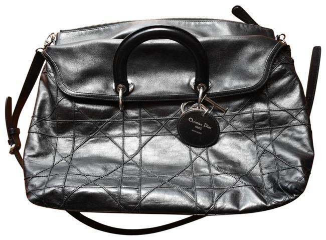 Item - Cannage Granville Black Lambskin Leather Tote