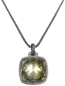 David Yurman Albion Necklace With Champagne Citrine and Diamonds and 18K Gold
