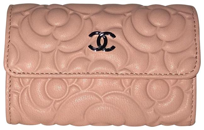 Chanel Pink Camellia Flap Card Holder Wallet Chanel Pink Camellia Flap Card Holder Wallet Image 1