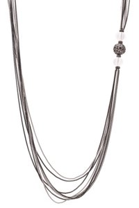 David Yurman David Yurman Diamond & Clear Quartz Multichain Necklace - Silver