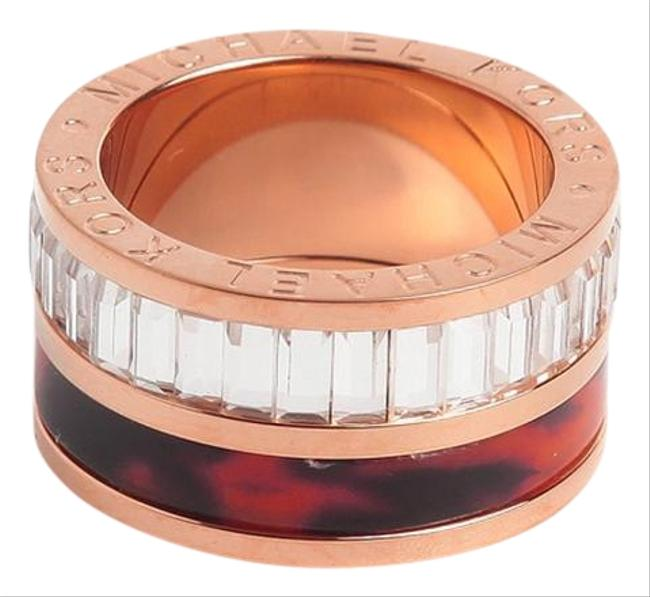 Item - Rose Gold New Tortoise Baguette Barrel 6 Ring