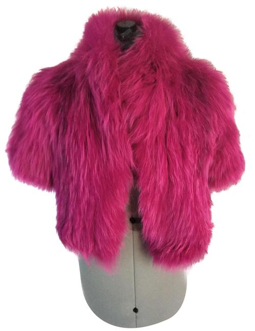 Item - Fuchsia Signature Knitted Fox Bolero Coat Size 8 (M)