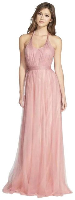Item - Pink Tulle Annabelle Bridesmaid/ Wedding Long Formal Dress Size 2 (XS)
