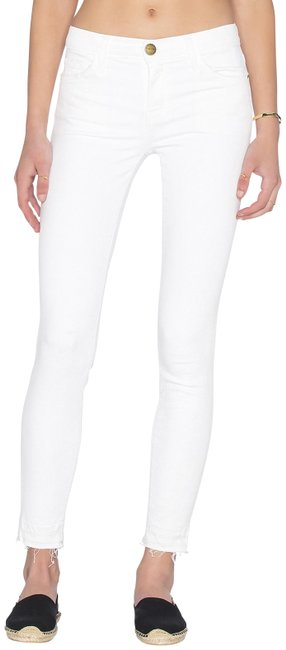 Item - White Stiletto Sugar Released Hem Ankle Skinny Jeans Size 24 (0, XS)