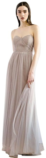 Item - Lavender Grey Tulle Annabelle Bridesmaid/ Wedding Long Formal Dress Size 0 (XS)