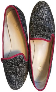 Cole Haan Horse Hair Red Piping black and cream Flats