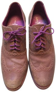 Cole Haan Nubuck And Soles tan/pink Flats