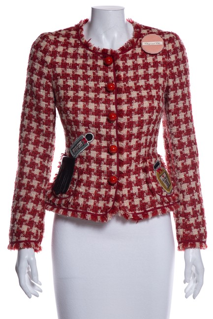 Item - Red Cheap & Chic Plaid Jacket Size 6 (S)
