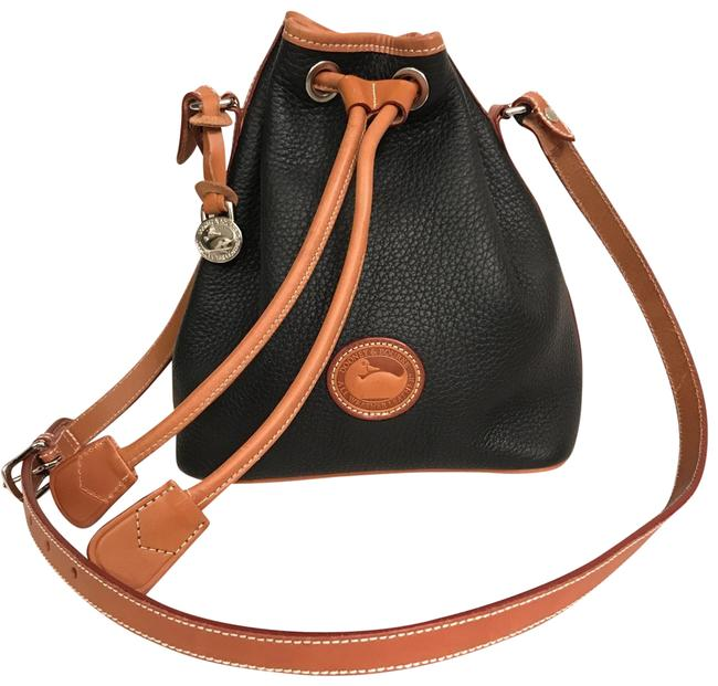 Item - Bucket New Small Drawstring Black Brown Silver Leather Cross Body Bag