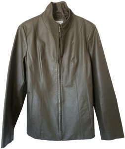 East 5th Essentials Olive Leather Jacket
